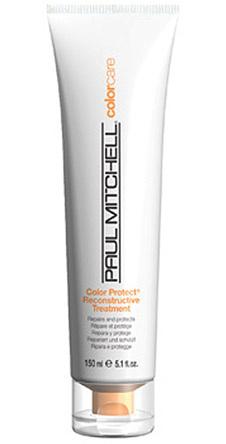 Средство для защиты окрашенных волос, Color Protect Reconstruction Treatment, Paul Mitchell. Не позволяет оттенку тускнеть и смываться. Спасает волосы от пересушивания на палящем солнце. Достаточно использовать 2-3 раза в неделю.