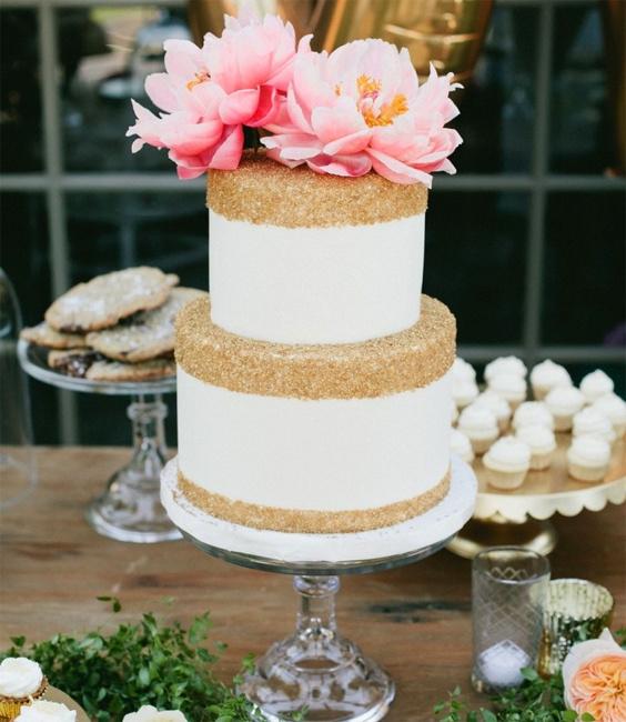Свадебный торт с блестками