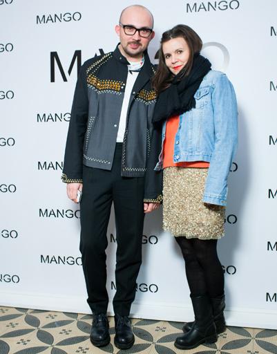 Виталий Козак и Наталья Туровникова на показе Mango весна-лето 2012