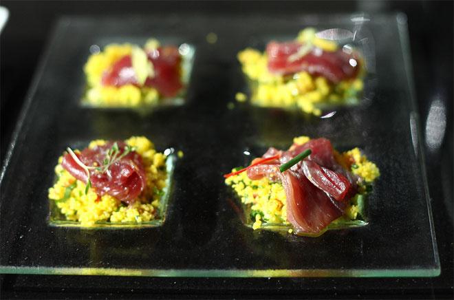 рецепт салата из кус-куса с маринованным тунцом