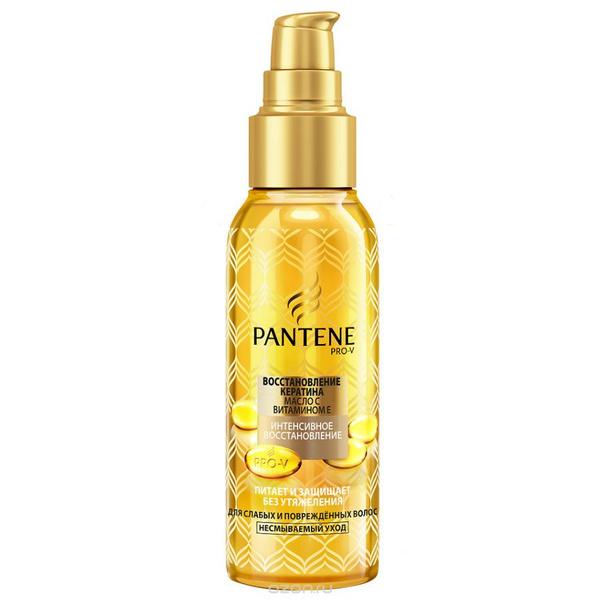 Pantene Pro-V, масло «Восстановление кератина», с витамином Е, для слабых и поврежденных волос, 309 рублей