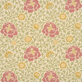 Обои Lansdown Walk из коллекции London Wallpaper II, The Little Greene, шоу-румы Manders.