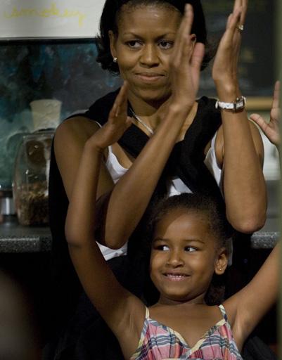Мишель и Саша Обама