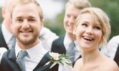 Дженнифер Лоуренс примерила платье подружки невесты