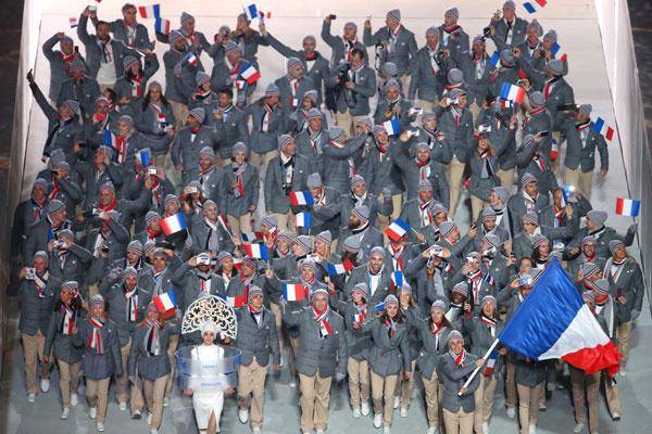 Сборная Франции в форме Lacoste