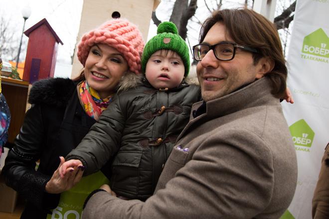 Андрей Малахов, Эвелина Блёданс с сыном Семеном фото