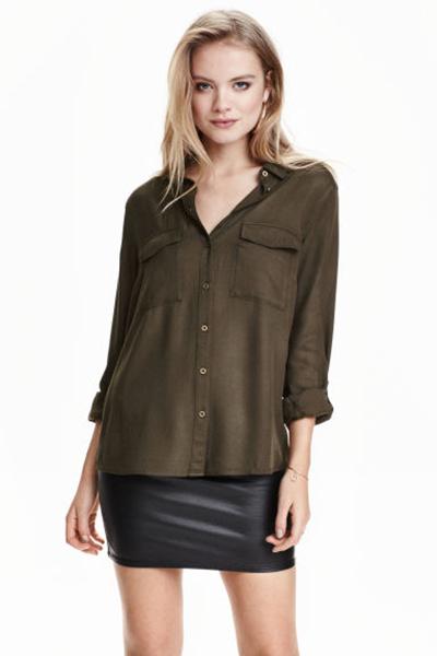 Рубашка, юбка H&M, фото