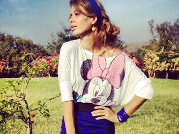 Виктория Боня отдала предпочтение шутливому образу Минни Маус