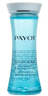 Лосьон для глаз против отеков Lotion Bleue от Payot успокаивает и смягчает кожу вокруг глаз, эффективно снимает воспаления и успокаивает