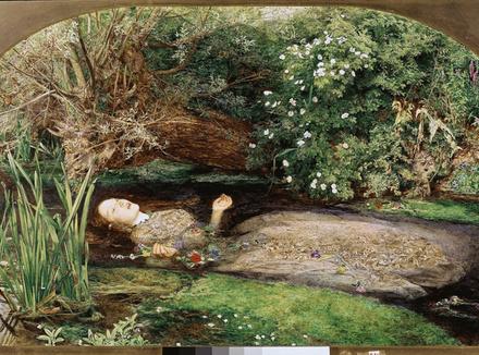 Репродукция картины «Офелия» Джона Эверетта Миллеса
