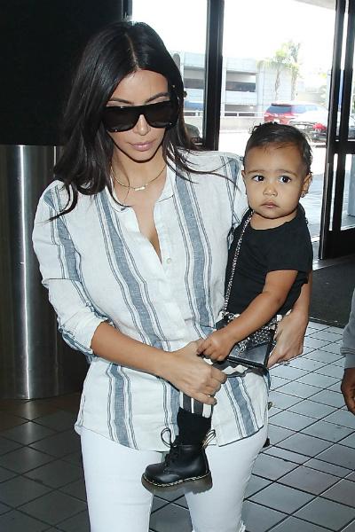 Ким Кардашьян и ее дочь Норт Уэст
