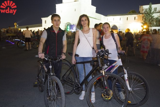 Велоночь в Казани 2015