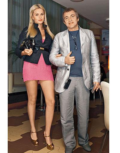 Дмитрий Дибров с бывшей женой Александрой