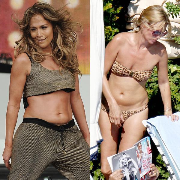 Дженнифер Лопес и Кейт Мосс еще год назад выглядили намного лучше.