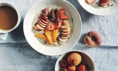 Детская каша с фруктами