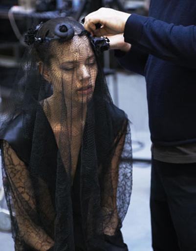 Бэкстейдж рекламной кампании Chanel осень-зима 2011 - 2012