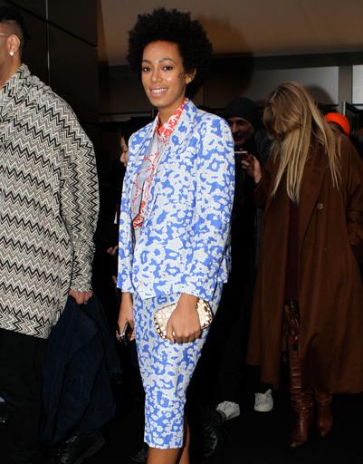 Соланж Ноулз (Solange Knowles) на Неделе моды в Нью-Йорке.