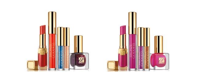 Блеск-помада для губ Pure Color Gloss Stick, лимитированный блеск для губ Bronze Goddess Exotic Lip Gloss, лимитированные жидкие тени Bronze Goddess Liquid EyeShadow, лак для ногтей Pure Color Nail Lacquer
