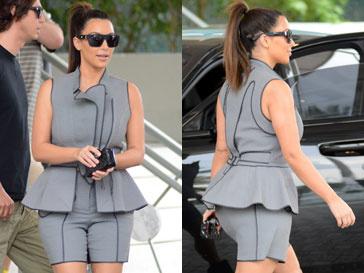 Ким Кардашьян (Kim Kardashian) отдала предпочтение странному наряду