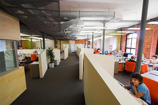 Так выглядит open-space офиса Яндекса.