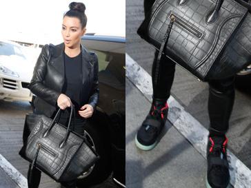 Ким Кардашьян (Kim Kardashian) носит кеды, созданные Канье Уэстом для Nike