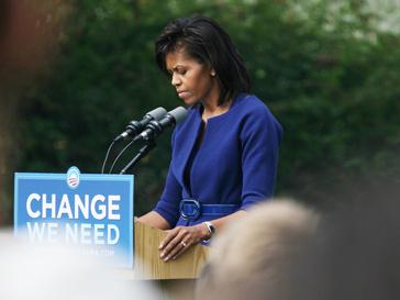 Первая леди США Мишель Обама на пресс-конференции