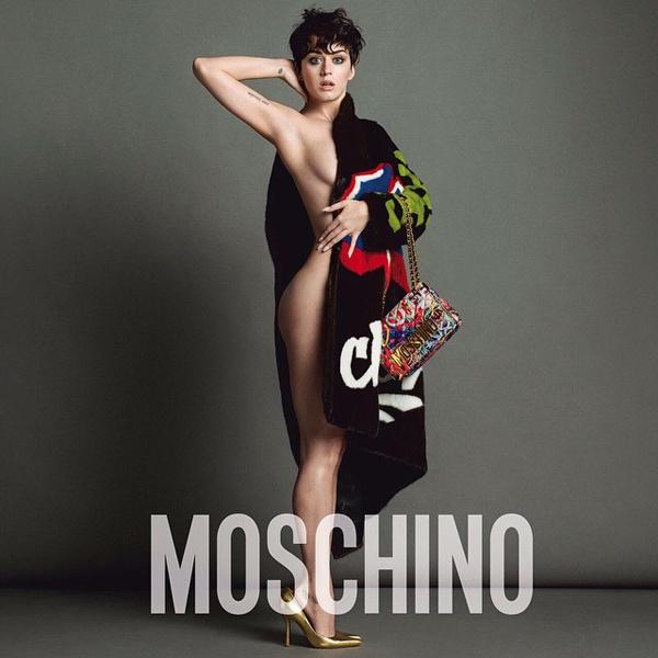 Голая Кэти Перри в рекламной кампании Moschino