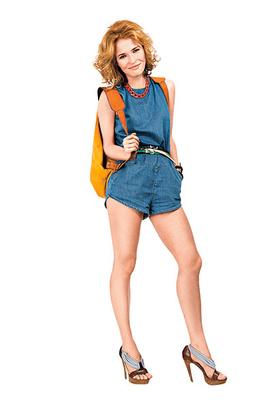 Комбинезон Topshop, ремешки Accessorize, колье H&M, босоножки Fendi, рюкзак Pleathure