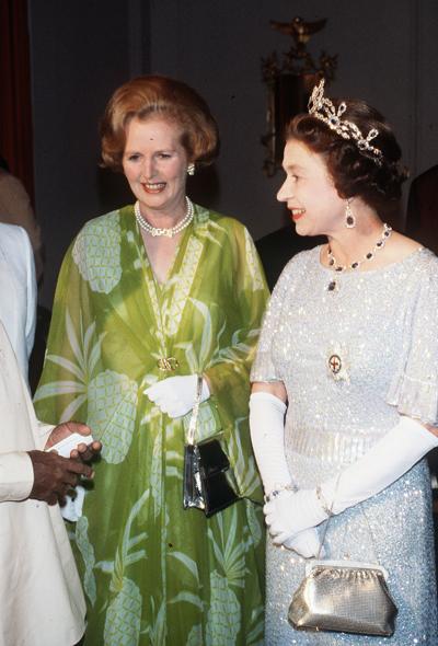 Маргарет Тэтчер и Елизавета II