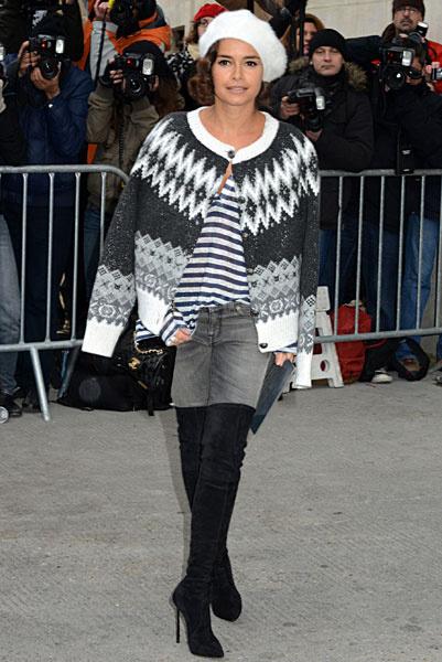 Мирослава Дума на показе Chanel Couture весна-2014