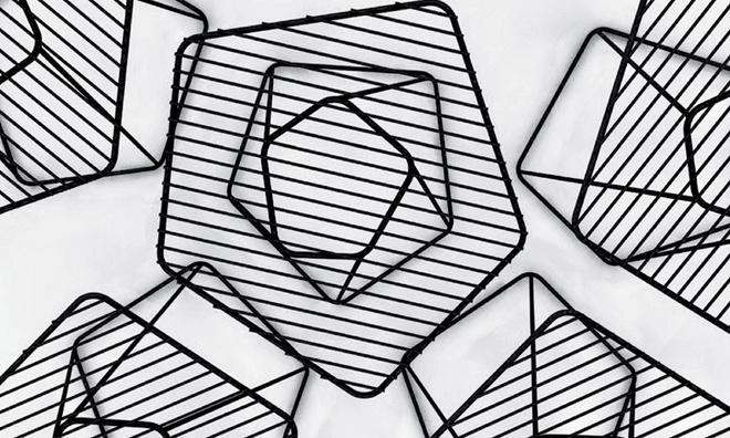 Журнальные столики Tectonic Tables. Производитель: Bonaldo. Дизайн: Ален Жилль (Alain Gilles). Материал: металл.