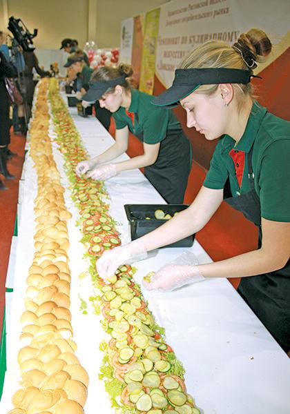 Самый длинный бутерброд
