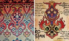 Художник рисует монстров из советских ковров (галерея)