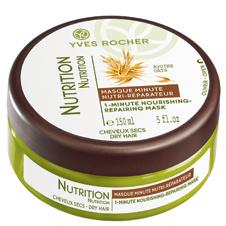 Экспресс-маска для питания волос с экстрактом овса Nutri-Reparateur, Yves Rocher идеальна для секущихся и сухих волос.