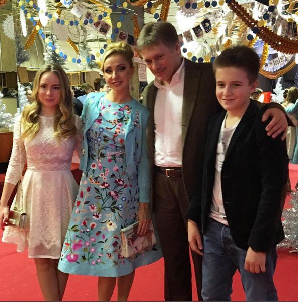Татьяна Навка и Дмитрий Песков с детьми