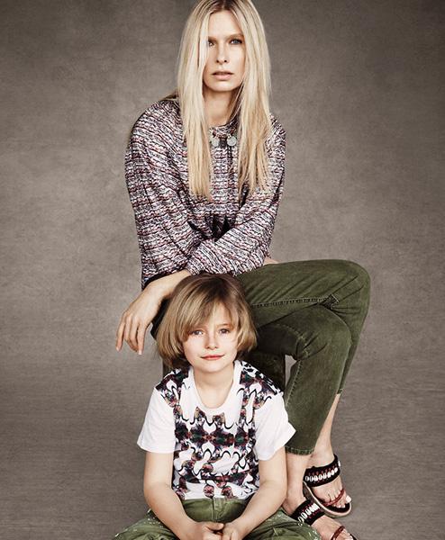 Кристина Круз с сыном Августом