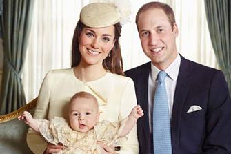 Кейт Миддлтон и принц Уильям с сыном. Крестины