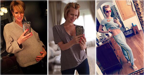 Фото беременных актрис олеся судзиловская 91