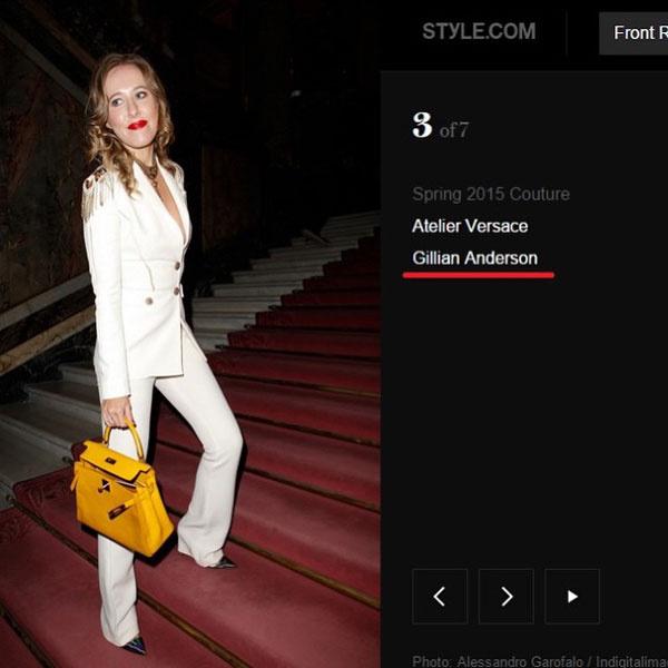 Ксения Собчак на страницах онлайн-издания превратилась в Джиллиан Андерсон