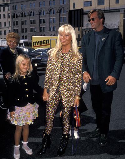 Донателла Версаче (Donatella Versace) с семьей