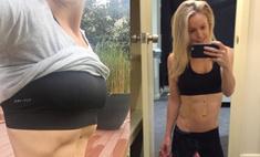 Фитнес-модель показала пресс после рождения близнецов