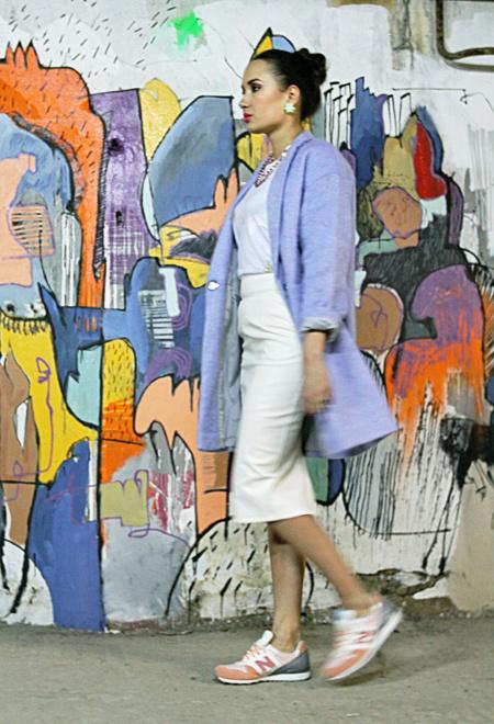 Как носить юбку-карандаш Вика Майорова