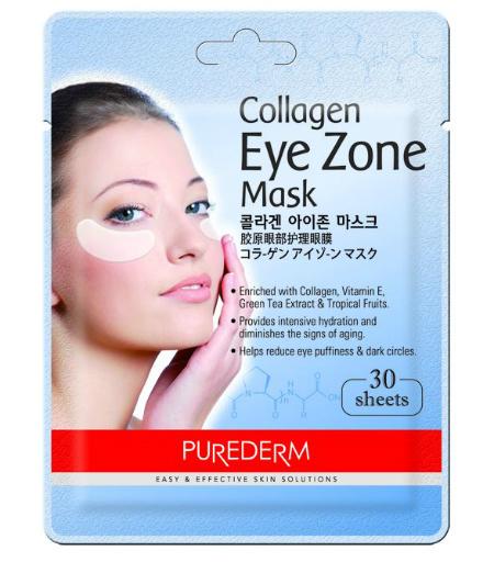 Purederm, коллагеновая маска для области вокруг глаз