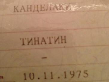 Паспорт Тины Канделаки