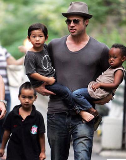 Брэд Питт (Brad Pitt) с детьми