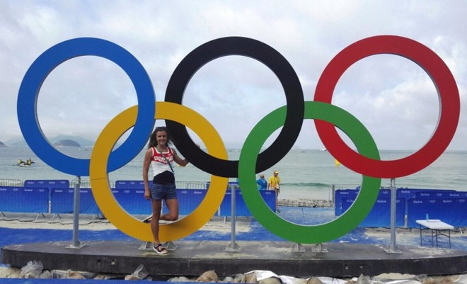 Триатлонистка Анастасия Абросимова в Рио-де-Жанейро