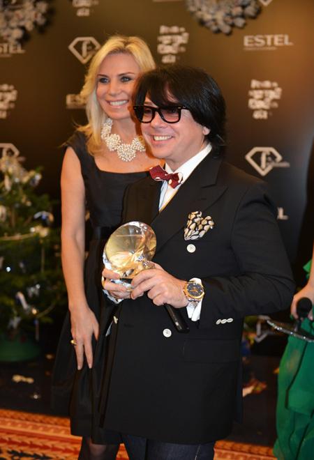 Валентин Юдашкин с женой, фото