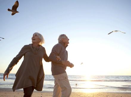 Романтическая пожилая пара