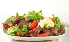Рецепт салата с вареной печенью и огурцами