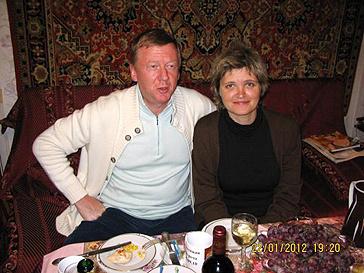 Анатолий Чубайс и Авдотья Смирнова